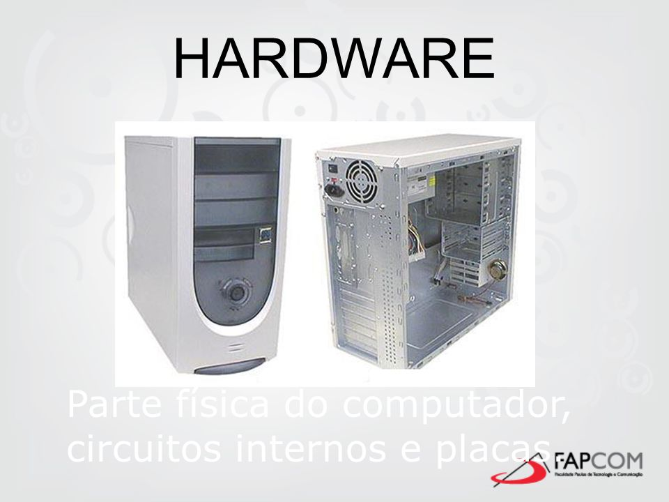 Software O Software é uma sentença escrita em uma linguagem computável, para a qual existe uma máquina capaz de interpretá- la.