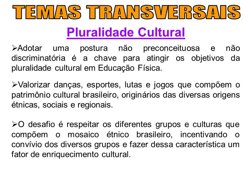 Pluralidade Cultural Adotar uma postura não preconceituosa e não discriminatória é a chave para atingir os objetivos da pluralidade cultural em Educaç