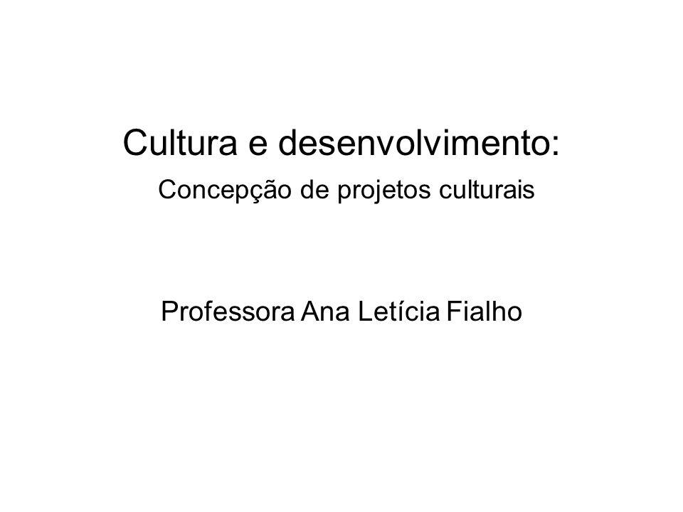 Aula 10 - 19/07/2011 Primeira parte: Análise do texto Gestão empreendedora em arte e cultura: delimitando o campo (apostila p.
