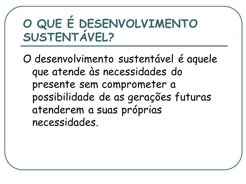 DESENVOLVIMENTO SUSTENTÁVEL O USO RACIONAL DA NATUREZA
