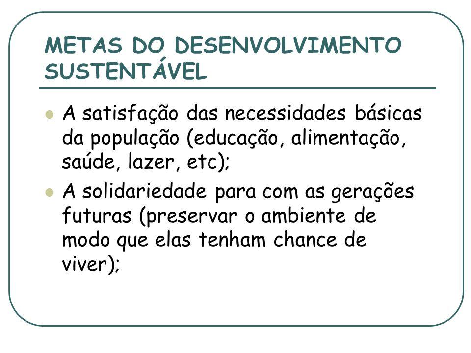 CONCEITOS-CHAVE 1- o conceito de necessidades, sobretudo as necessidades essenciais dos pobres no mundo, que devem receber a máxima prioridade; 2- a n