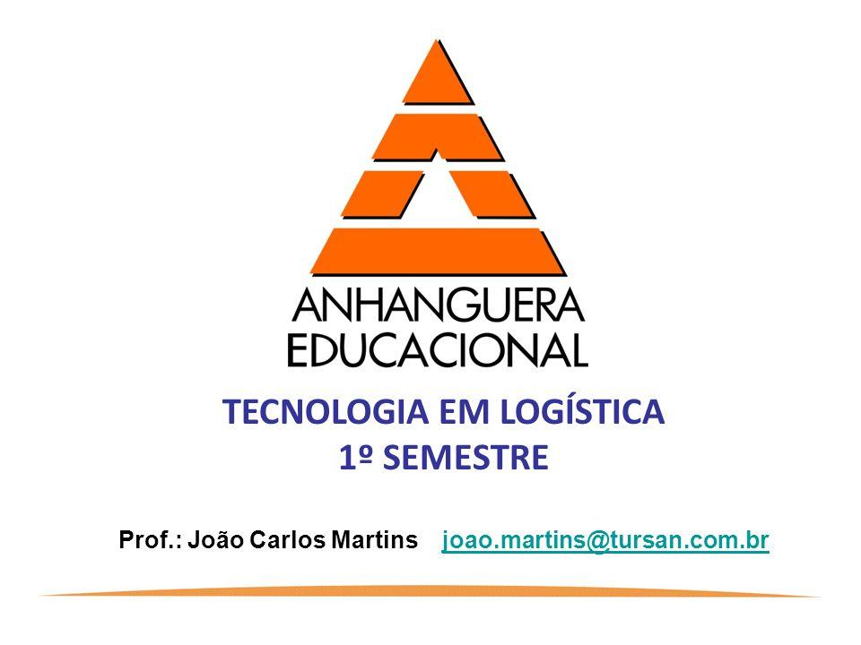 TECNOLOGIA EM LOGÍSTICA 1º SEMESTRE Prof.: João Carlos Martins joao.martins@tursan.com.brjoao.martins@tursan.com.br