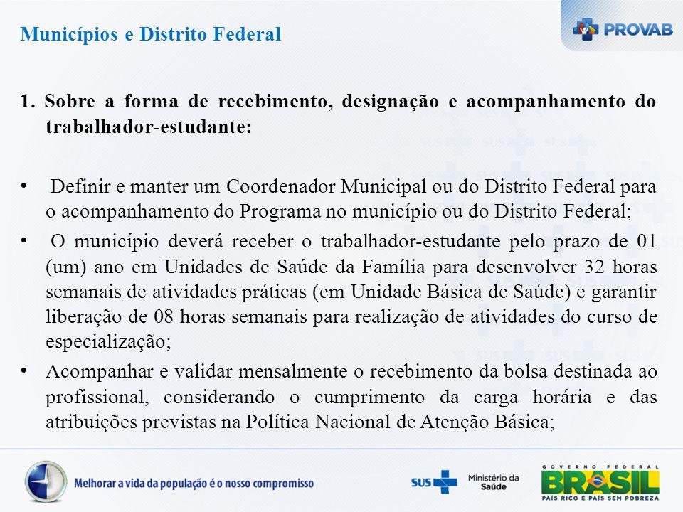 Municípios e Distrito Federal 1.