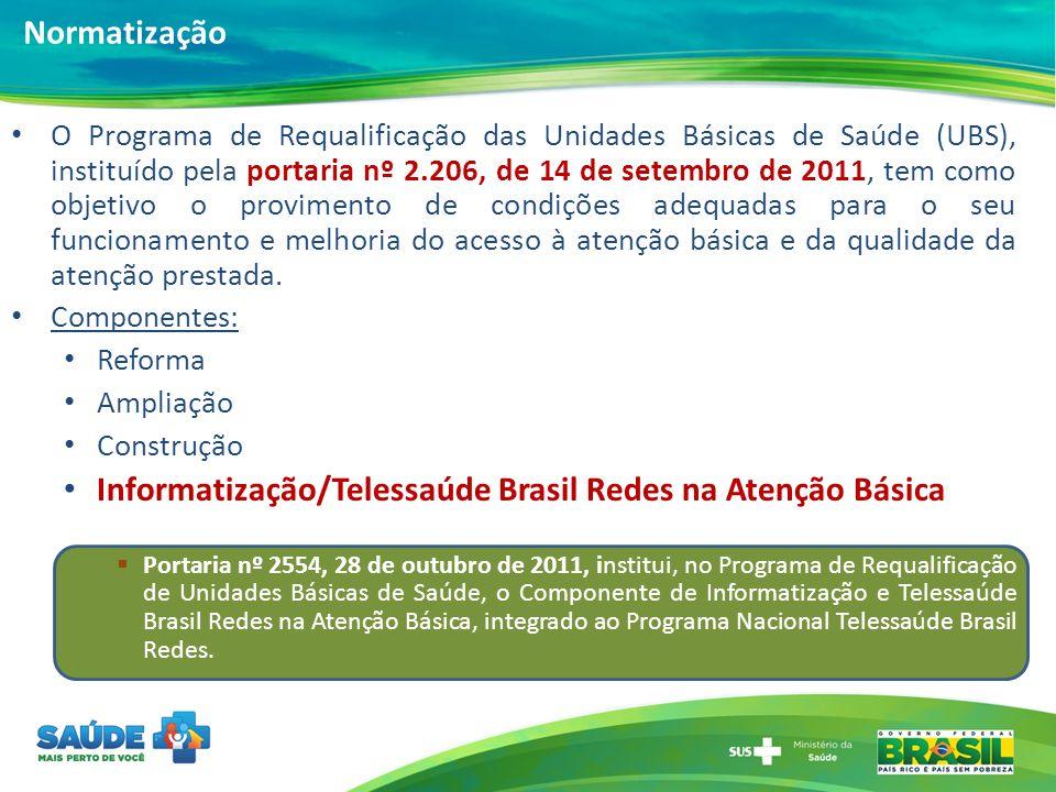 O Programa de Requalificação das Unidades Básicas de Saúde (UBS), instituído pela portaria nº 2.206, de 14 de setembro de 2011, tem como objetivo o pr