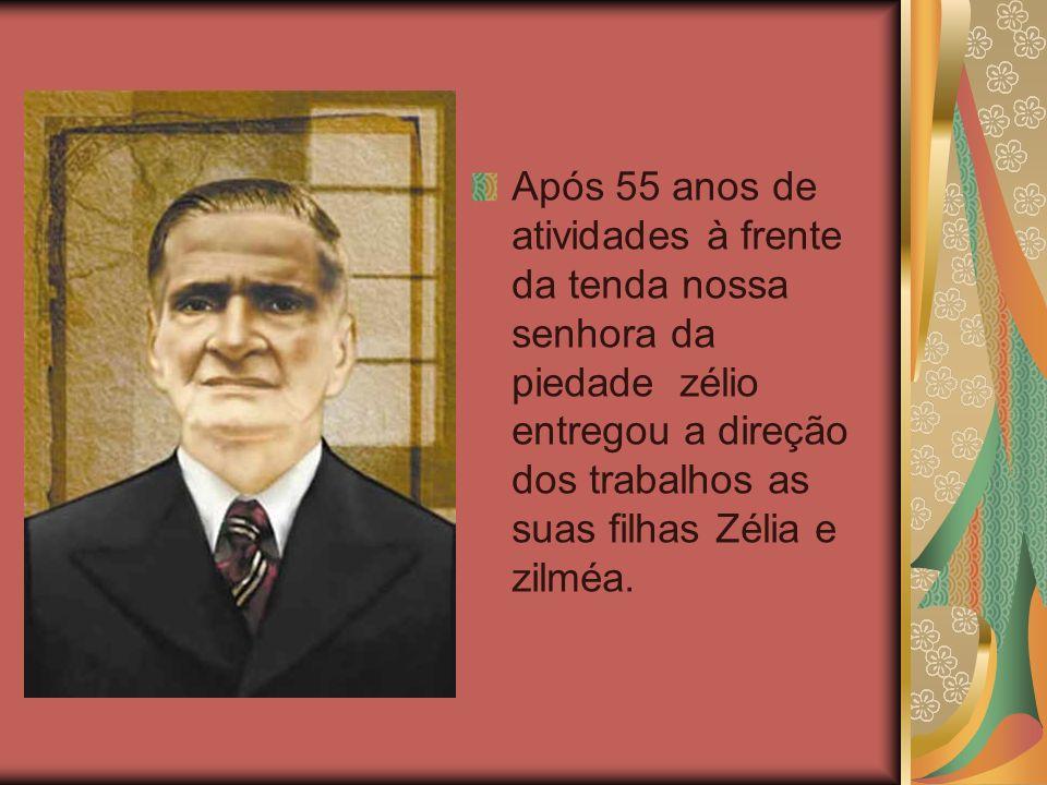 Após 55 anos de atividades à frente da tenda nossa senhora da piedade zélio entregou a direção dos trabalhos as suas filhas Zélia e zilméa.
