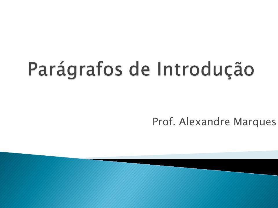 Prof. Alexandre Marques