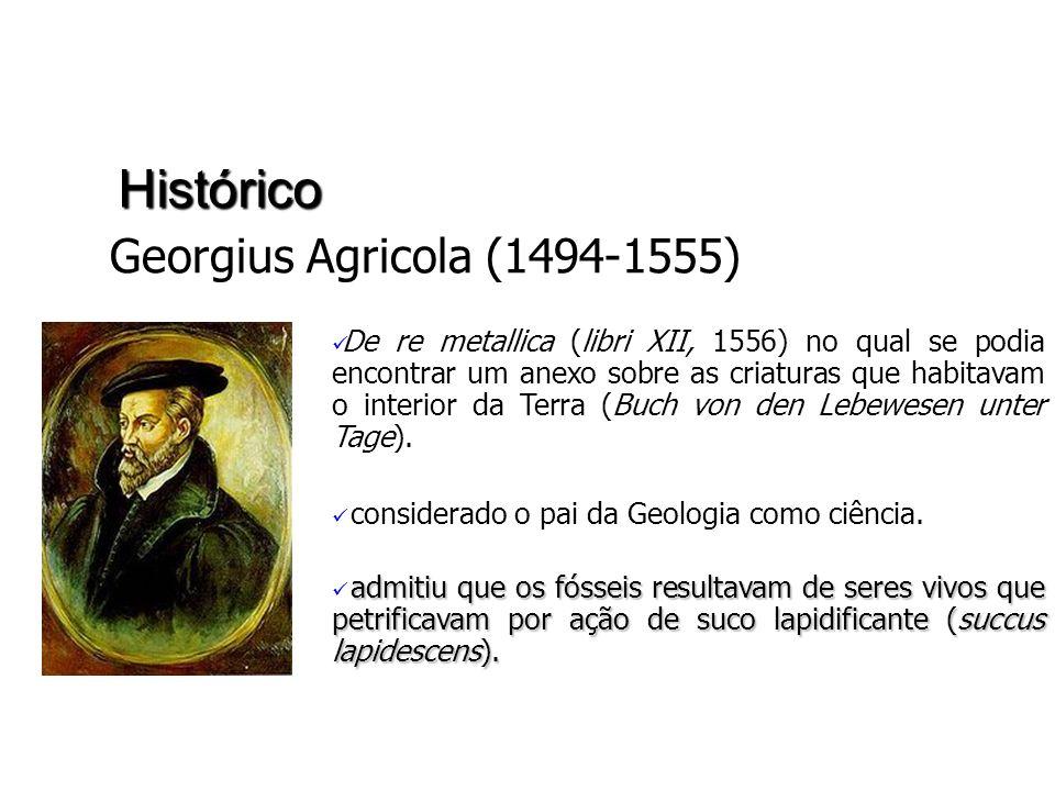 Histórico Georgius Agricola (1494-1555) De re metallica (libri XII, 1556) no qual se podia encontrar um anexo sobre as criaturas que habitavam o inter