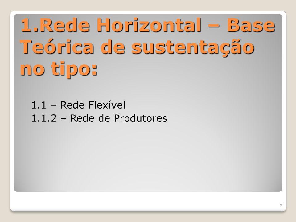 1.Rede Horizontal – Base Teórica de sustentação no tipo: 1.1 – Rede Flexível 1.1.2 – Rede de Produtores 2
