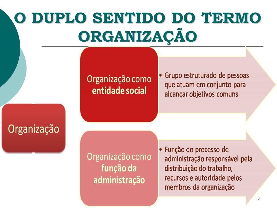 5 ESTRUTURA ORGANIZACIONAL Modo como as atividades de uma organização são ordenadas para possibilitar o alcance de seus objetivos.