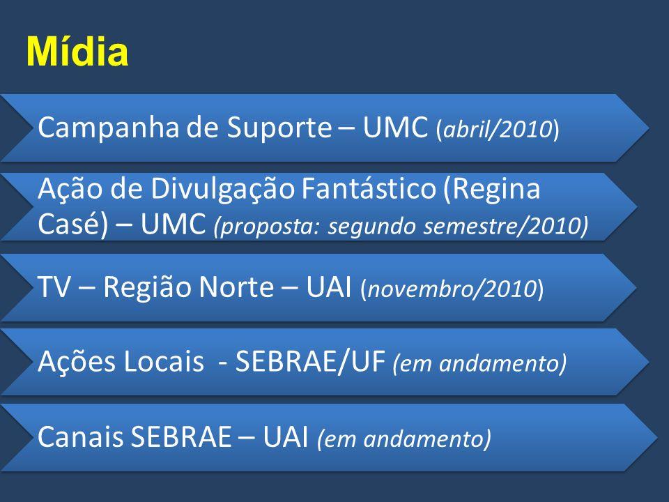 Articulação ABVD – UARI (proposta: junho/2010) Bancos Oficiais e Privados – UASF (em andamento) CNT (Taxistas) – UAI (proposta: junho/2010) Prefeituras e MDS – UPP (em andamento) Sindicatos - SEBRAE/UF (em andamento) Agências de Microfinanças – UASF (em andamento)