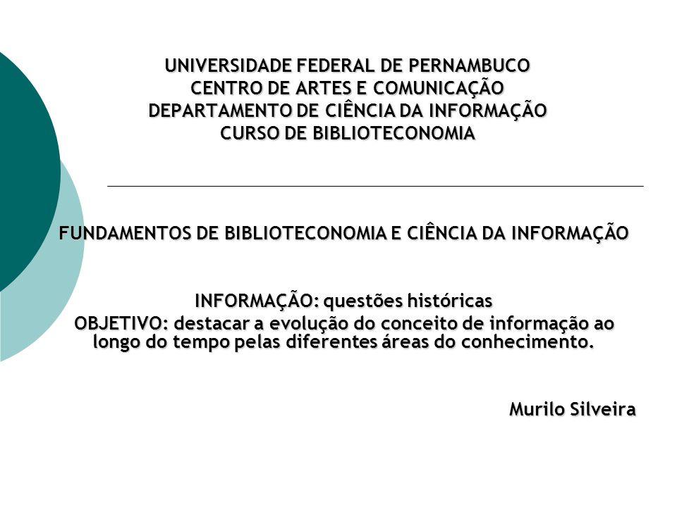 THE CONCEPT OF INFORMATION Conceito de Informação nas Ciências Humanas Baseado no paradigma do processamento da informação na Psicologia Cognitiva.