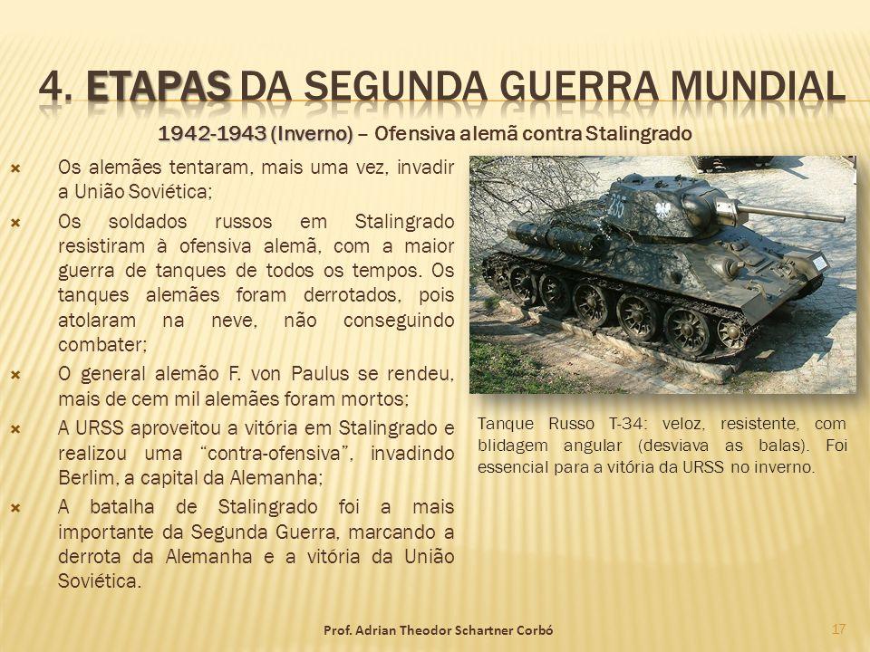 1942-1943 (Inverno) 1942-1943 (Inverno) – Ofensiva alemã contra Stalingrado Os alemães tentaram, mais uma vez, invadir a União Soviética; Os soldados