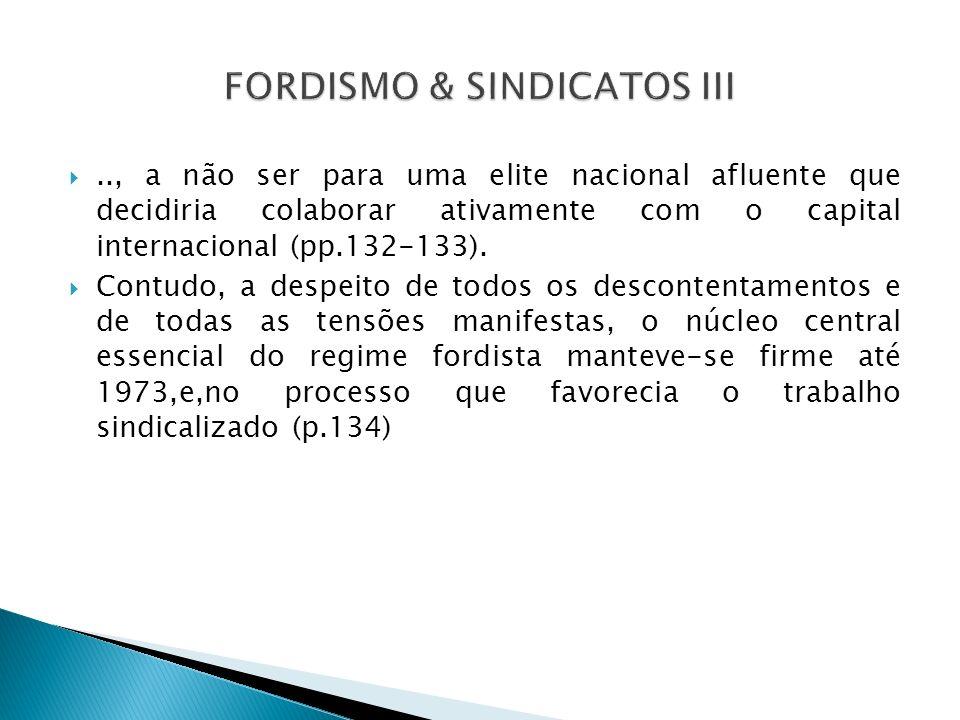 .., a não ser para uma elite nacional afluente que decidiria colaborar ativamente com o capital internacional (pp.132-133). Contudo, a despeito de tod