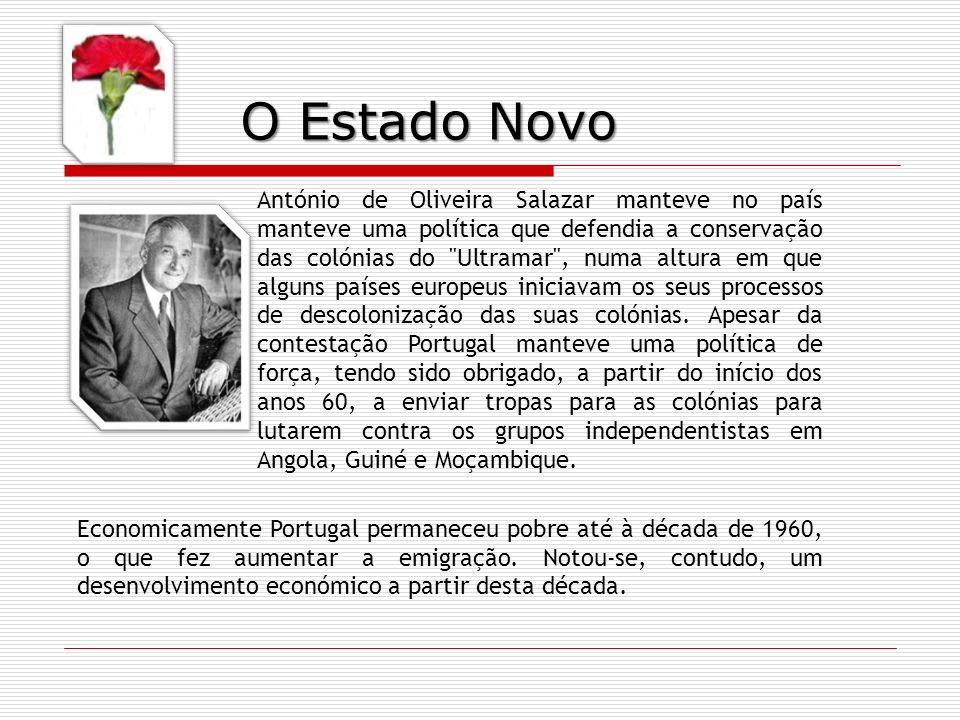 Economicamente Portugal permaneceu pobre até à década de 1960, o que fez aumentar a emigração. Notou-se, contudo, um desenvolvimento económico a parti