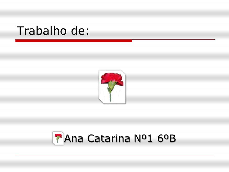 Trabalho de: Ana Catarina Nº1 6ºB Ana Catarina Nº1 6ºB