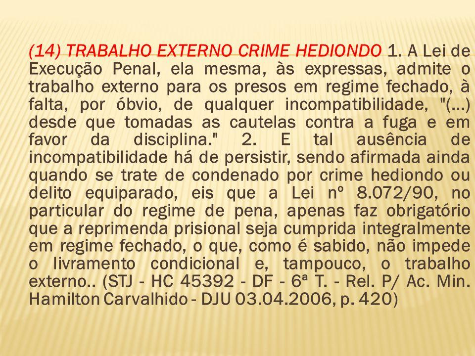(14) TRABALHO EXTERNO CRIME HEDIONDO 1.