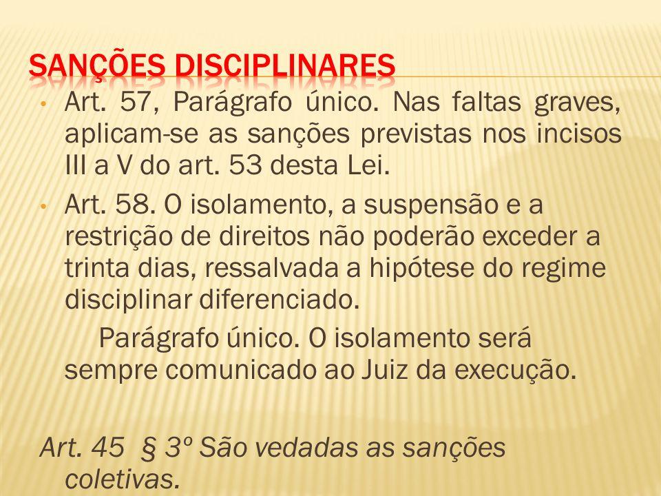 Art.57, Parágrafo único.