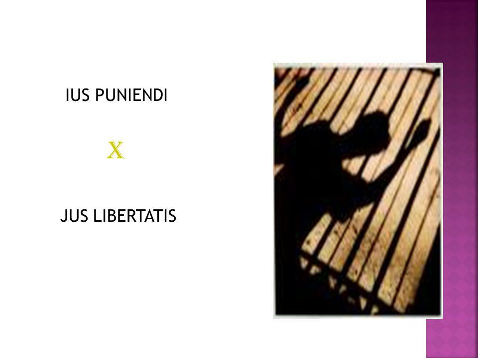 IUS PUNIENDI X JUS LIBERTATIS