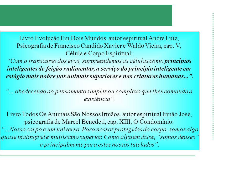 Livro Evolução Em Dois Mundos, autor espiritual André Luiz, Psicografia de Francisco Candido Xavier e Waldo Vieira, cap. V, Célula e Corpo Espiritual: