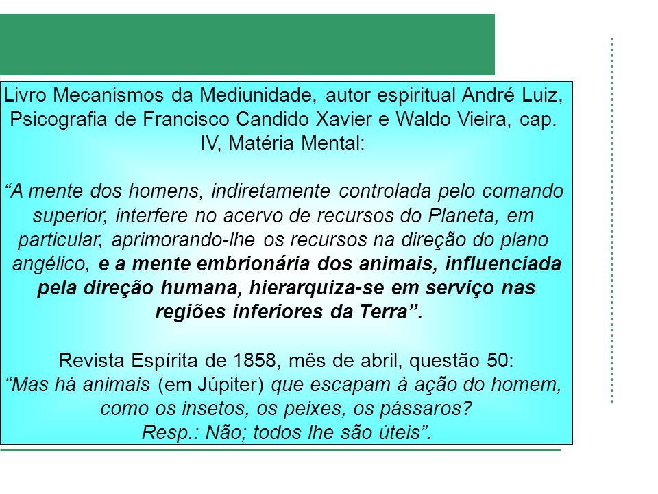Livro Mecanismos da Mediunidade, autor espiritual André Luiz, Psicografia de Francisco Candido Xavier e Waldo Vieira, cap. IV, Matéria Mental: A mente
