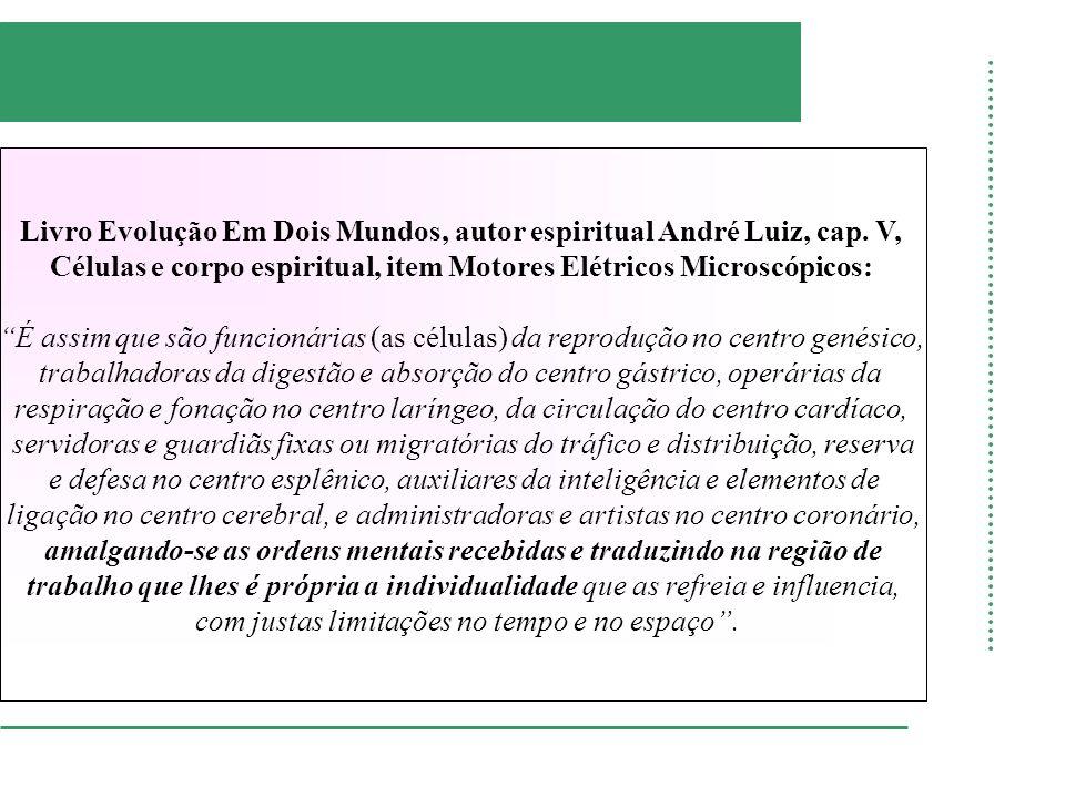 Livro Evolução Em Dois Mundos, autor espiritual André Luiz, cap. V, Células e corpo espiritual, item Motores Elétricos Microscópicos: É assim que são