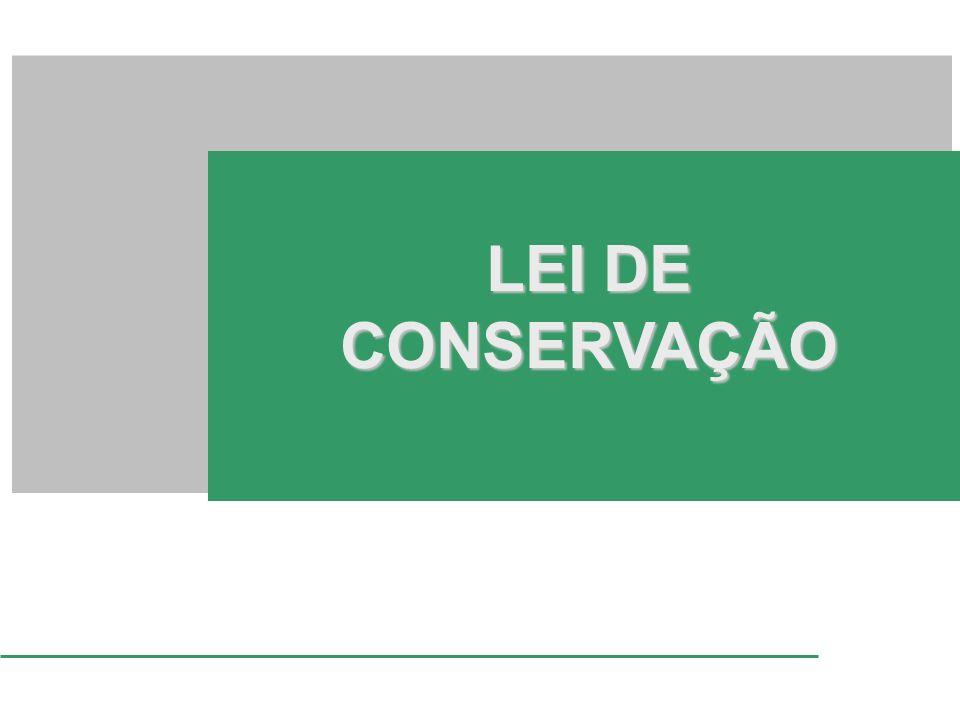 LEI DE CONSERVAÇÃO