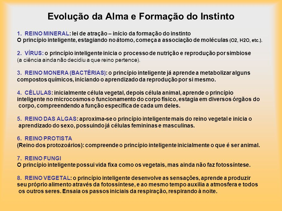 Evolução da Alma e Formação do Instinto 1.