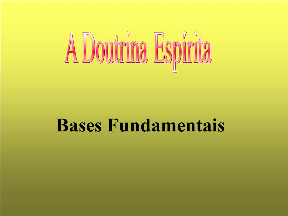 Bases Fundamentais