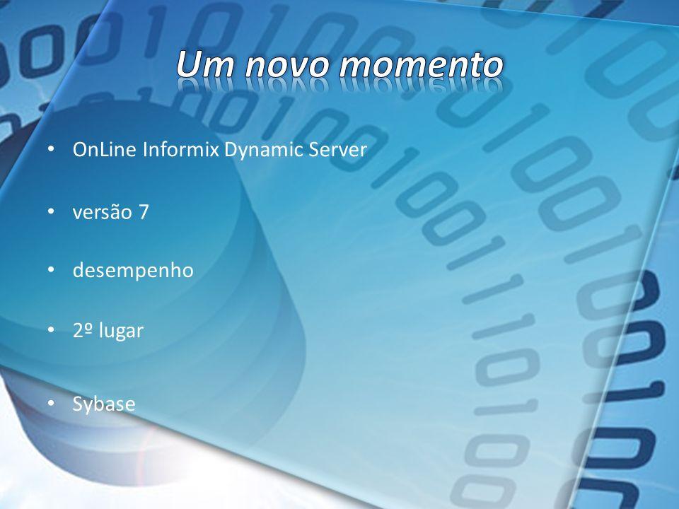 OnLine Informix Dynamic Server versão 7 desempenho 2º lugar Sybase