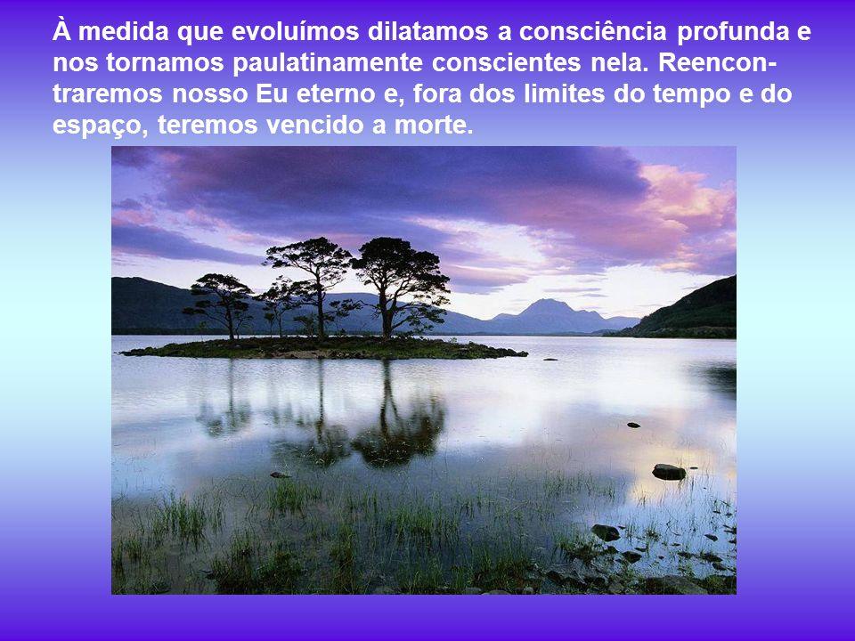 À medida que evoluímos dilatamos a consciência profunda e nos tornamos paulatinamente conscientes nela.