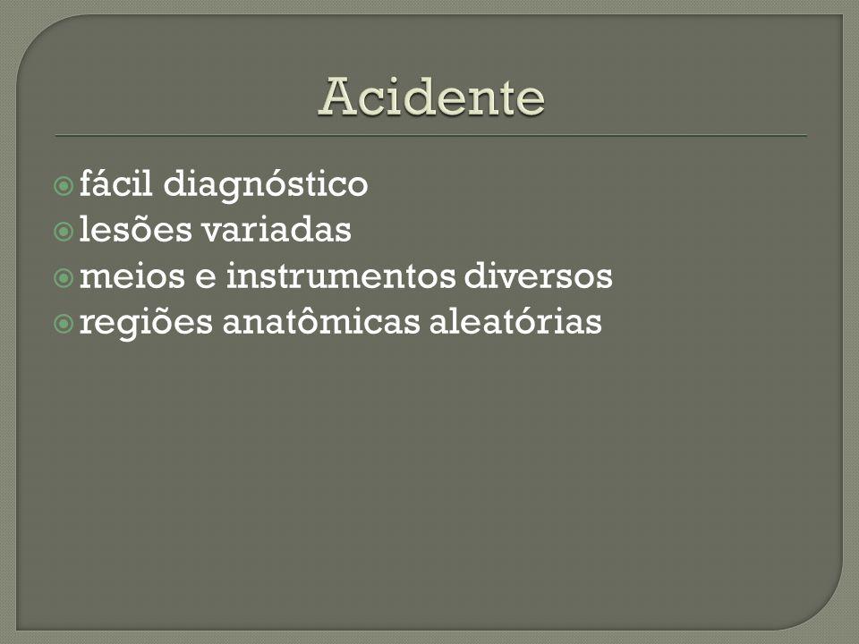 fácil diagnóstico lesões variadas meios e instrumentos diversos regiões anatômicas aleatórias