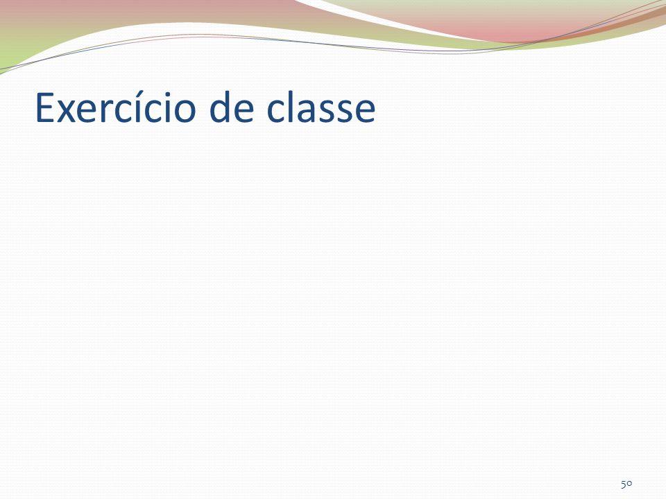 Exercício de classe 50