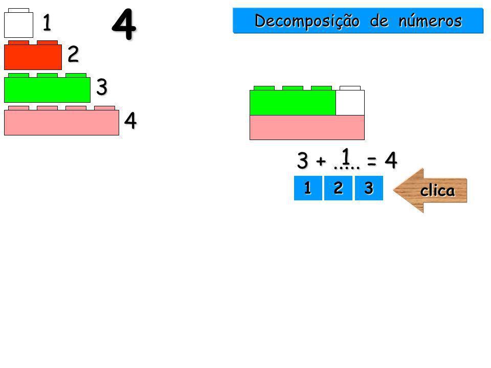 Decomposição de números 1 2 3 44 1111 2222 3333clica