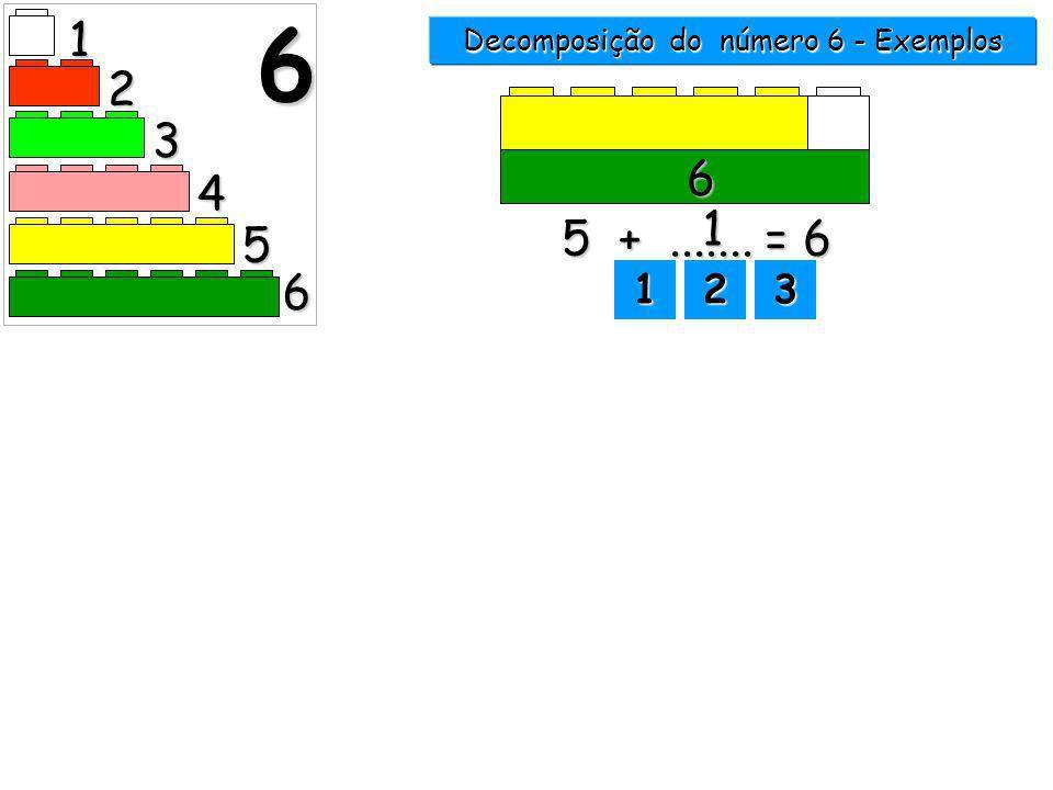 1 2 3 4 5 6 6 Decomposição do número 6 - Exemplos 1111 2222 3333clica