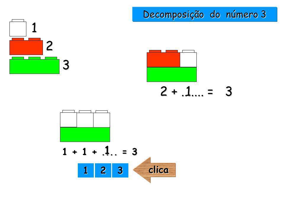 2 +....... = 3 1 2 3 1 Decomposição do número 3 1111 2222 3333clica