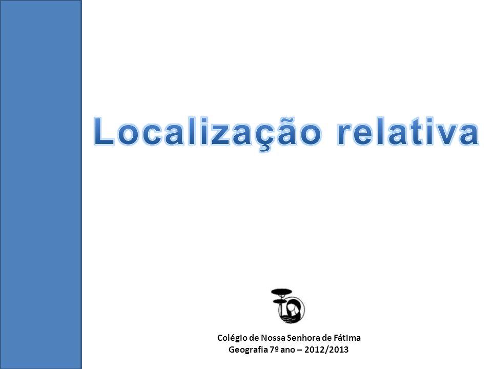Localização Relativa – é a localização de um lugar em relação a outro.