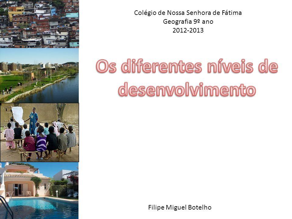 Colégio de Nossa Senhora de Fátima Geografia 9º ano 2012-2013 Filipe Miguel Botelho