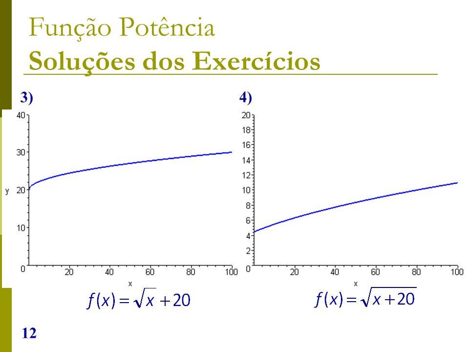 12 Função Potência Soluções dos Exercícios 3) 4)