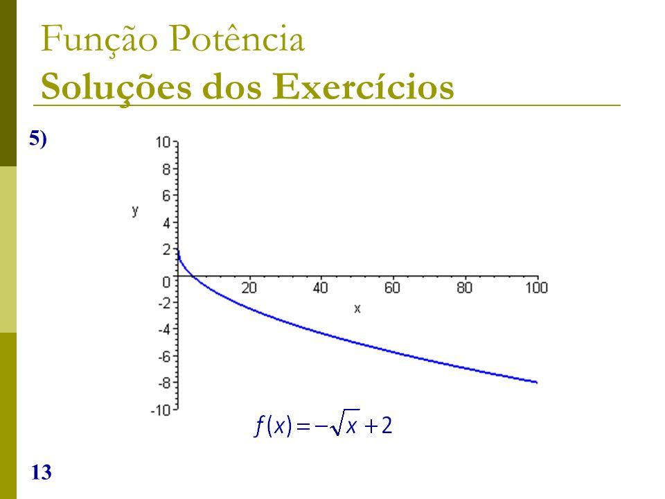 13 Função Potência Soluções dos Exercícios 5)