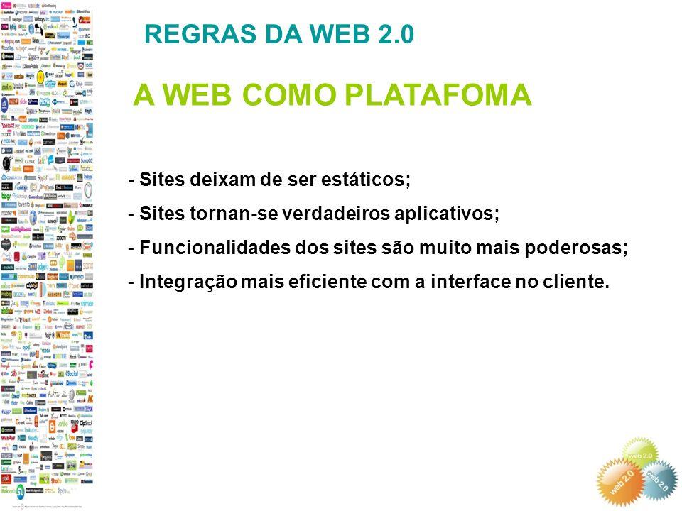 - Sites deixam de ser estáticos; - Sites tornan-se verdadeiros aplicativos; - Funcionalidades dos sites são muito mais poderosas; - Integração mais eficiente com a interface no cliente.