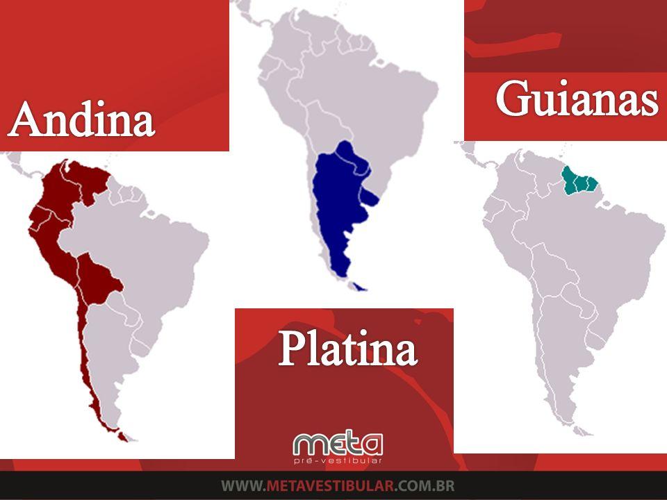 -O país mais populoso é a Argentina (80%); - A maioria da população da Argentina e do Uruguai é composta por descendentes de imigrantes europeus; - A população do Paraguai é composta por mestiços (europeus com índios); -No Uruguai ocorre uma alta taxa de emigração, mesmo com uma qualidade de vida boa / envelhecimento da população; América Platina