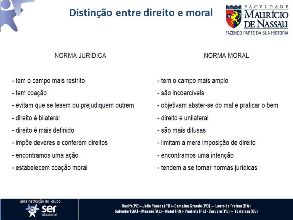 1 - Assinale a alternativa INCORRETA em relação às características da moral: a) Na moral pode-se observar uma intenção.