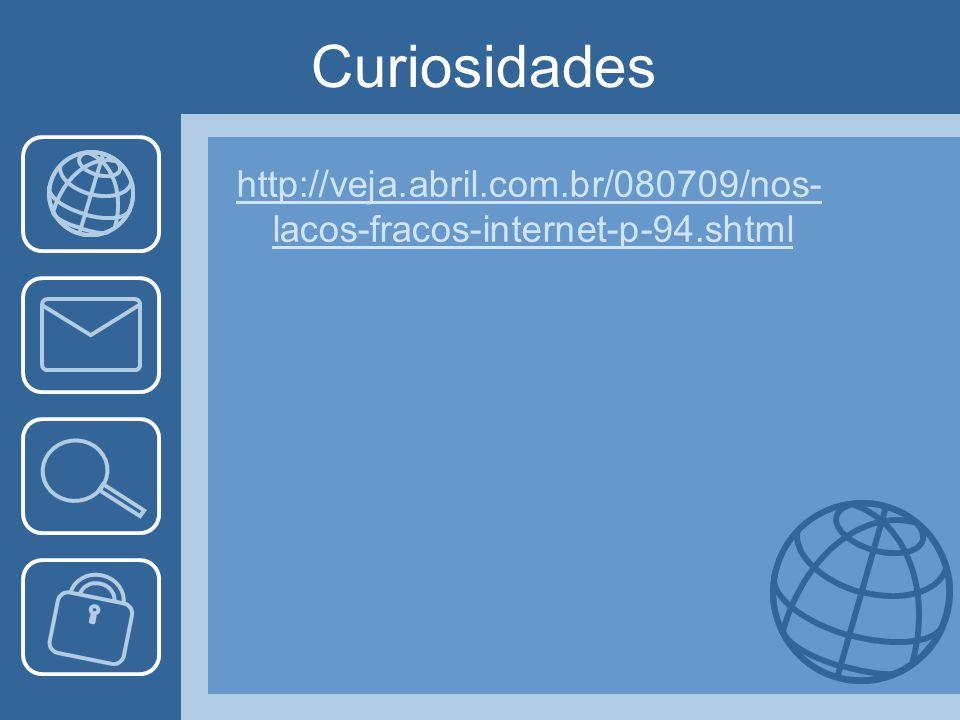 Curiosidades http://veja.abril.com.br/080709/nos- lacos-fracos-internet-p-94.shtml