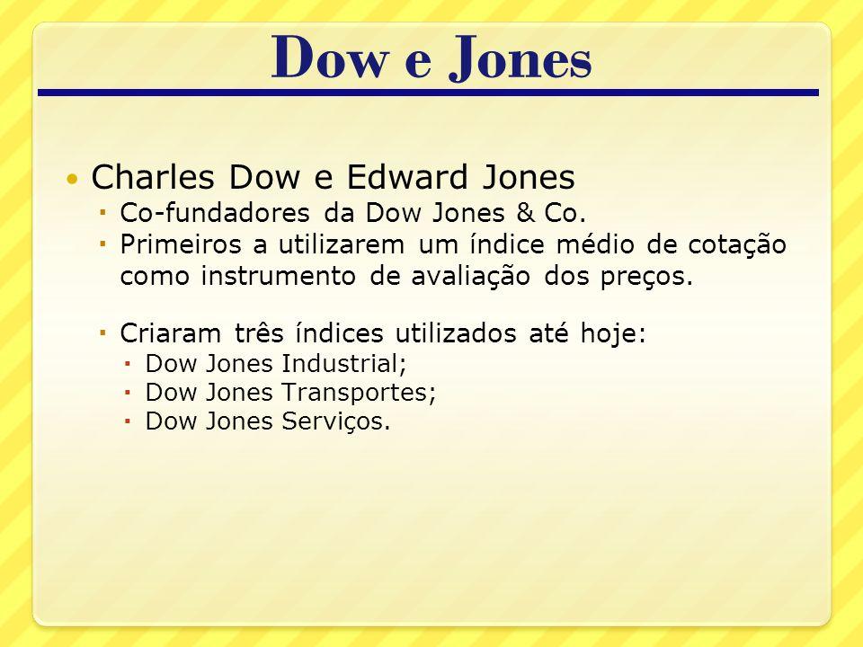 Dow e Jones Charles Dow e Edward Jones Co-fundadores da Dow Jones & Co.