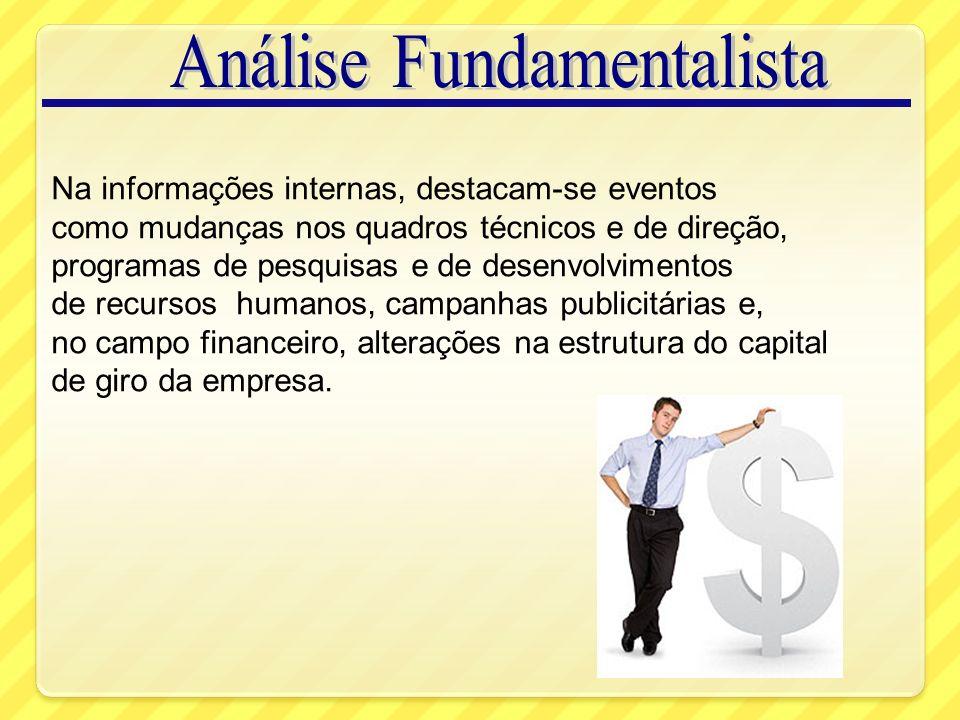 Análise de Tendências Segundo a Teoria Dow Tendência Primária: Tendência principal e mais importante.