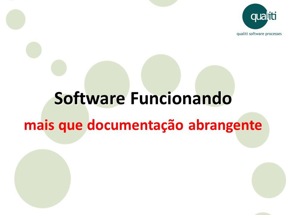 Software Funcionando mais que documentação abrangente