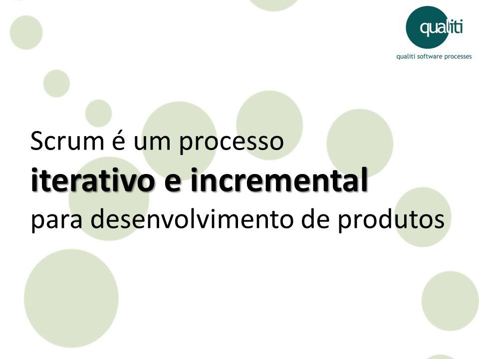 Scrum é um processo iterativo e incremental para desenvolvimento de produtos