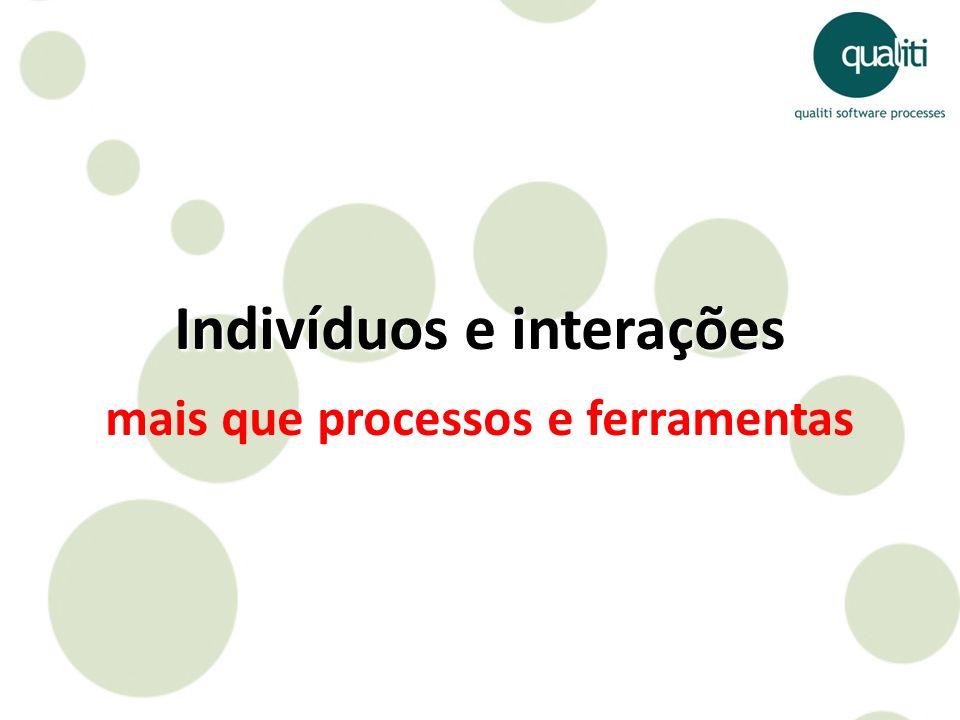 Indivíduos e interações mais que processos e ferramentas