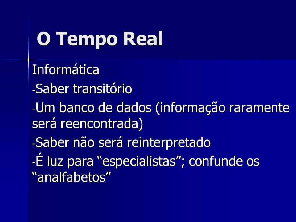 O Tempo Real Um modelo digital normalmente não é nem verdadeiro nem falso, nem mesmo testável, em um sentido estrito.