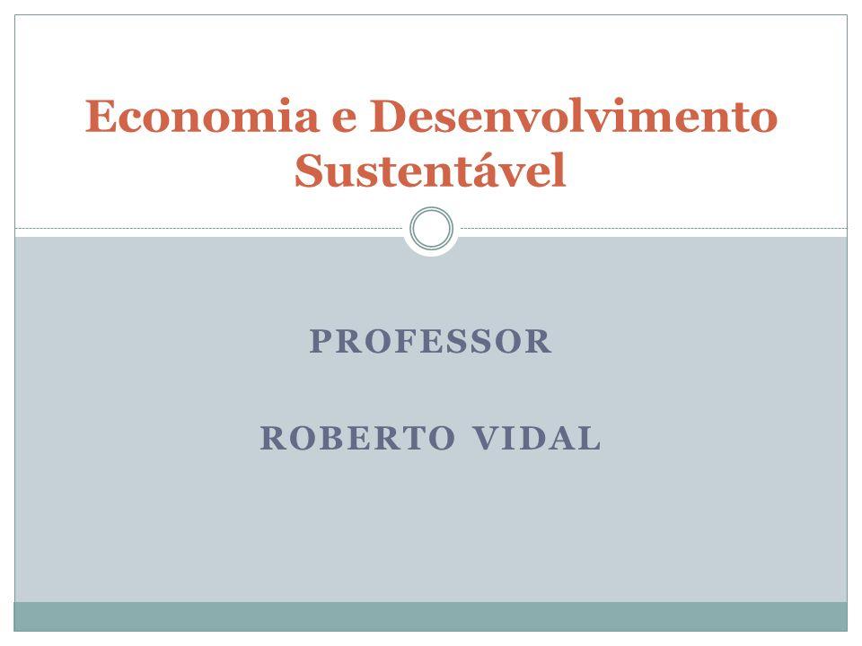 PROFESSOR ROBERTO VIDAL Economia e Desenvolvimento Sustentável